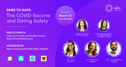 Dare to Date: The COVID Vaccine and Dating Safety Webinar will be held on March 23 at 1:30 pm EDT. (Graphic: Business Wire)
