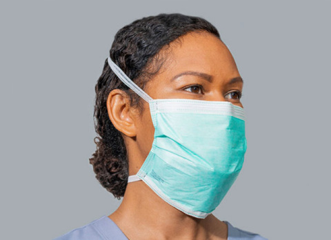 ViruDefense's model VDI-100 mask was designed to combine the filtration capabilities of an N95 respirator with the fluid resistance of a surgical mask. (Photo: Business Wire)