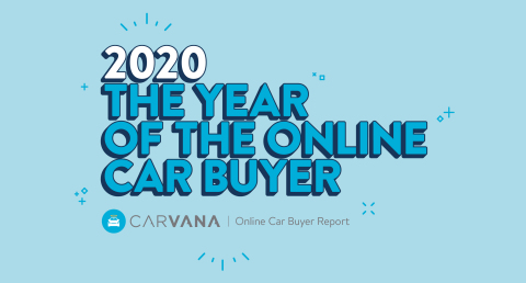 Carvana's Online Car Buyer Report for 2020 highlights the most compelling trends and statistics from the year that automotive e-commerce took off—from sales metrics to electric vehicle adoption, and much more. (Graphic: Business Wire)