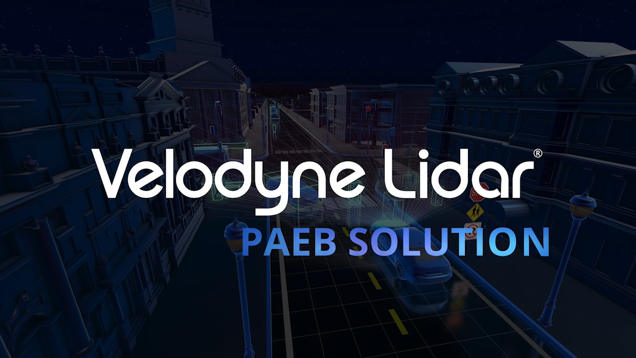 A new Velodyne Lidar video illustrates how a lidar-based Pedestrian Automated Emergency Braking system can reduce pedestrian fatalities in all conditions. (Video: Velodyne Lidar, Inc.)