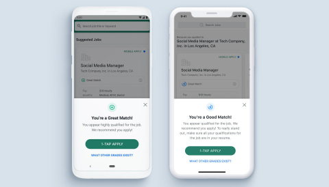 ZipRecruiter's new feature 'Insights' tells job seekers how strong a match they are for every job. (Photo: Business Wire)