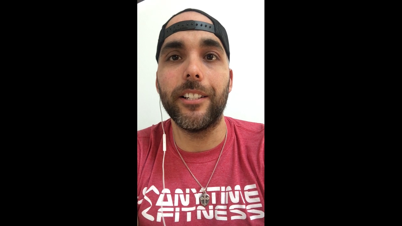 Daniel Casanova, Anytime Fitness owner, San Antonio, is joined by his infant daughter as he speaks to why it matters to support women - including the athletes in the NCAA Women's Division I Basketball Championship, March 20, 2021.