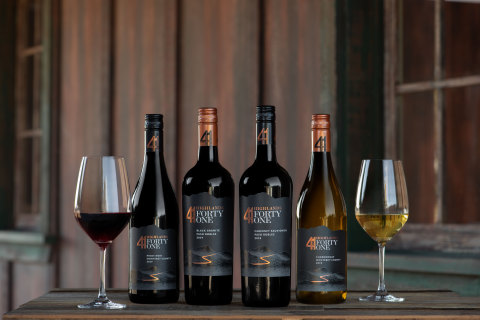 """Named for the historic Highway 41 and the rugged Creston Highlands of Paso Robles, Highlands 41 is made for those who embrace the thrill of breaking out and taking the road less traveled. Each bottle of Highlands 41 is grown from sustainably farmed estate vineyards in Paso Robles and Monterey and produced at the Riboli Family's CSWA sustainably-certified, state-of-the-art winery. The line of wines includes flagship Paso Robles Cabernet Sauvignon, as well as a Paso Robles """"Black Granite"""" Red Blend, Monterey County Pinot Noir, and Monterey County Chardonnay. Available nationally and priced at $15/750ml bottle. (Photo: Business Wire)"""
