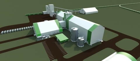 Figure 1: Conceptual Rendering for Tugaske Project Plant Site (Photo: Business Wire)