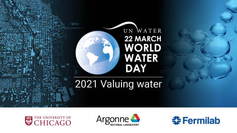 On World Water Day 2021, the University of Chicago, Argonne National Laboratory, and Fermi National Accelerator Laboratory highlight Chicago and the greater Midwest as a hub for water innovation. (Graphic: Business Wire)