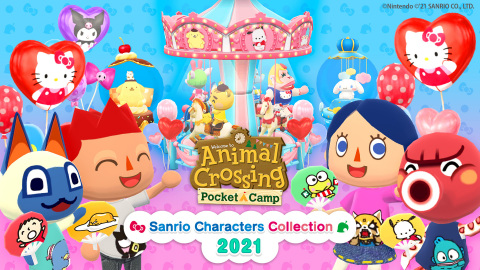 Sanrio is once again bringing the friendship, kindness and cuteness of its characters to Animal Crossing: Pocket Camp. From March 25 at 11 p.m. PT to May 9 at 10:59 p.m. PT, the Sanrio Characters Collection 2021 in-game event will bring Sanrio character-themed items to players' campsites. (Graphic: Business Wire)