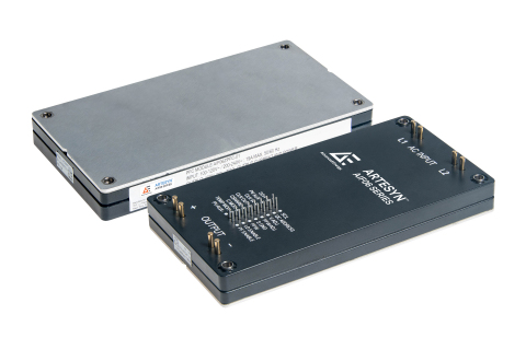 Advanced Energy's new Artesyn AIF06ZPFC series power factor correction (PFC) module packs greater efficiency and density into a compact brick, the size of a smartphone. The AIF06ZPFC module is ideal for a wide range of high-voltage applications including medical devices, unmanned aerial and terranean vehicles, and industrial applications where extreme heat and cold are a significant factor. The AIF06ZPFC series provides even better performance than our previous generation module, with greater efficiency and more functionality, including digital control and internal inrush limiting. This all combines to make the AIF06ZPFC easier to integrate and use. (Photo: Business Wire)