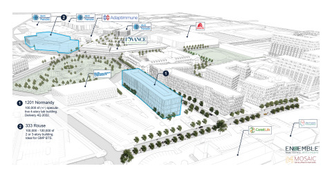 Life sciences planned building locations - Philadelphia Navy Yard (Photo: Business Wire)