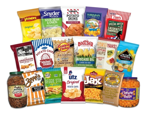 Utz offers a wide variety of household favorite branded snack foods. Source: Utz Brands, Inc.