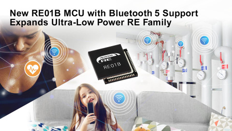 New RE01B MCU with Bluetooth 5 support expands ultra-low power RE family (Photo: Renesas)
