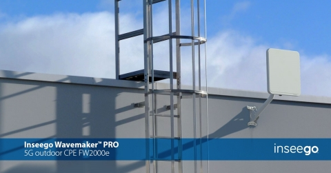 (C)2021. Inseego Corp. All rights reserved. Inseego Wavemaker PRO fixed wireless outdoor CPE enterprise and industrial (Graphic: Business Wire)