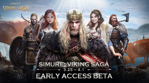 Simure: Viking Saga early access open on March 25th, 2021 (Graphic: Business Wire)