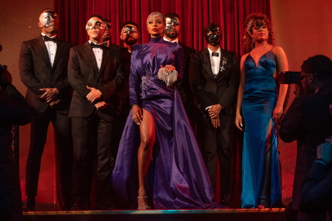 "BET+ and Tyler Perry Studios turn up the heat with new sexy drama ""All The Queen's Men""  set inside the thrilling world of male exotic dancing in Atlanta starring Eva Marcille  @BETPlus (Photo: Business Wire)"