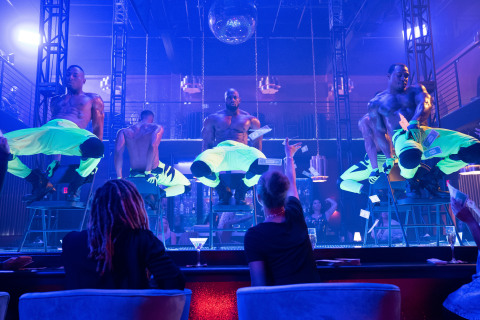 """BET+ and Tyler Perry Studios turn up the heat with new sexy drama """"All The Queen's Men"""" set inside the thrilling world of male exotic dancing in Atlanta created by Christian Keyes @betplus (Photo: Business Wire)"""