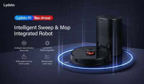 Lydsto Self-collecting dust robot vacuum - opening a new era of intelligent robot vacuum (Graphic: Business Wire)