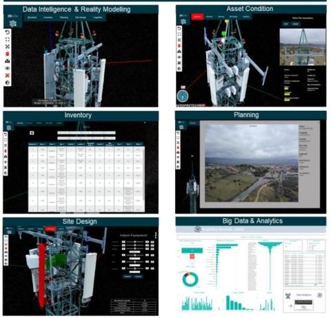 借助 OpenTower iQ,电信塔公司和移动运营商可以使用数字孪生技术和实景建模功能连续访问近乎实时的信息,以更好地监测和预测必要的电信塔改造并采取行动。  (Photo: Business Wire)