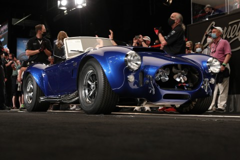 The 1966 Shelby Cobra 427 Super Snake (Lot #1396) sold for $5.5 million during the Barrett-Jackson Scottsdale Auction (Photo: Business Wire)