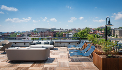 Bison Pedestals and Wood Tiles on Rooftop Deck, Reed Row Apartment Community, Washington DC (Photo: Business Wire)