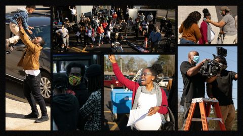 """Behind the scenes with the cast and crew of the """"Widen the Screen"""" film."""