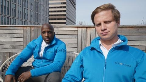 グロバラの共同創業者のアブ・カマラ最高経営責任者(CEO)(左)とピーター・グローバーマン最高革新責任者(CIO)(写真:Brand Bridge Ltd.)