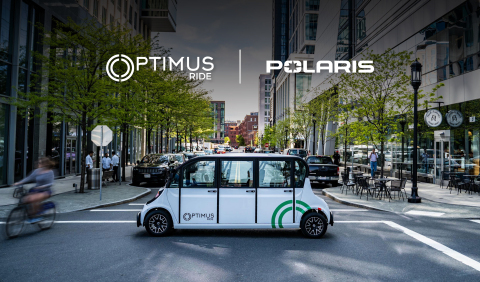 Optimus Ride and Polaris partner to manufacture a custom designed line of Polaris GEM electric low-speed vehicles that will fully integrate Optimus Ride's autonomous software and hardware suite direct from the factory for deployment nationwide on streets in residential communities, corporate and academic campuses, and other localized environments. (Photo: Business Wire)