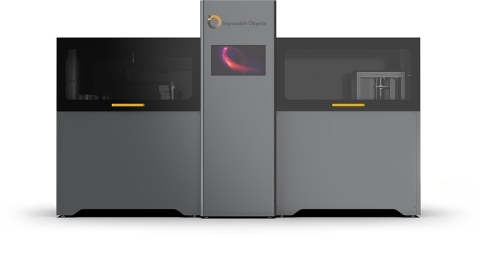 The Impossible Objects CBAM 2 printer can produce parts that are stronger, lighter, have better dimensional accuracy, and have better temperature performance than what's possible with conventional 3D printing methods. (Photo: Business Wire)