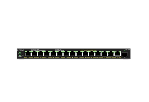 New GS316EP and GS316EPP switches provide bigger PoE budgets, enhanced security, and intuitive browser-based UI, in a compact form factor and attractive price-point. (Photo: Business Wire)