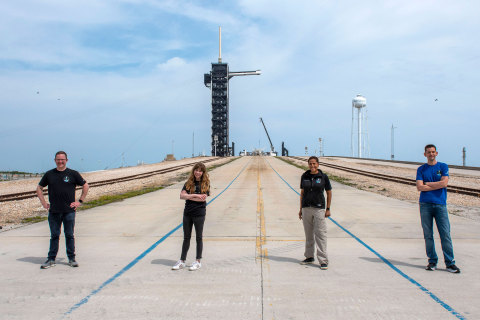 Inspiration4 Crew at historic Launchpad 39A / courtesy of SpaceX