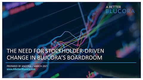 Presentation: The Need for Stockholder-Driven Change in Blucora's Boardroom