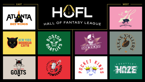 The Hall of Fame Resort & Entertainment Company unveiled the 10 franchises that will comprise its fantasy league – the Hall Of Fantasy League.