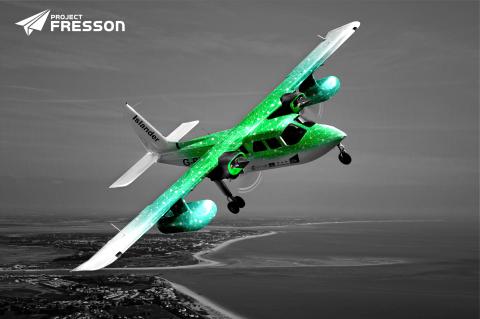 Il progetto Fresson creerà il primo servizio di trasporto aereo passeggeri ecologico (Grafica: Business Wire)
