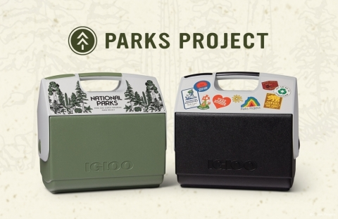 Igloo in partnership with Parks Project launched two new, special-edition Playmate coolers made with post-consumer recycled resin — part of Igloo's ECOCOOL™ collection, the world's first coolers made with post-consumer recycled resin. (Photo: Business Wire)