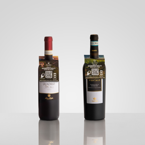 "Frederick Wildman will be debuting the AR experience with Santi ""Ventale"" Valpolicella Superior DOC and Nino Negri ""Quadrio"" in April 2021. (Photo: Business Wire)"