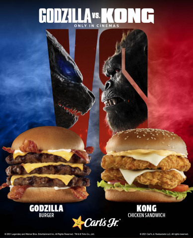 Carl's Jr.® and Hardee's® Introduce Godzilla vs. Kong-Inspired Limited Time Offers Globally (Graphic: Business Wire)