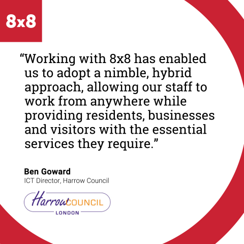 Harrow Council Moves to the Cloud with 8x8 to Enhance Delivery of Essential Harrow Services (Graphic: Business Wire)