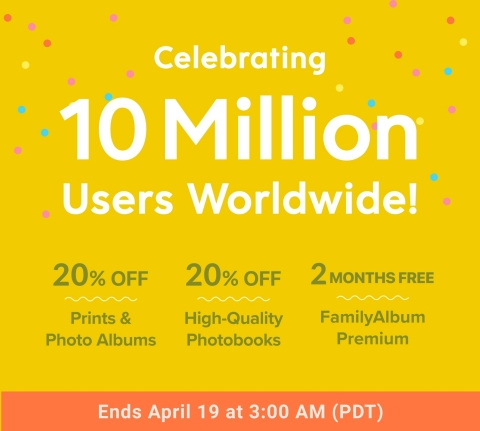 FamilyAlbum is holding a special User Appreciation Campaign now through April 18 that features discounts on many of the original photo products available through the app. (Graphic: Business Wire)
