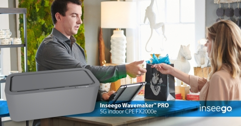 (C)2021. Inseego Corp. All rights reserved. Inseego Wavemaker PRO 5G indoor CPE FX2000e.