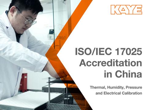 Kaye Earns ISO/IEC 17025:2017 Accreditation in its China Calibration Laboratory (Photo: Kaye)