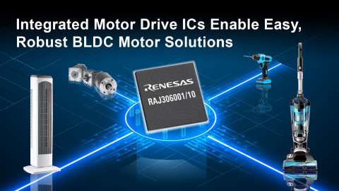 Integrated motor drive ICs enable easy, robust BLDC motor solutions (Graphic: Business Wire)