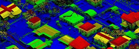 AGM-MS3 от AGM Systems сочетает в себе использование инерциальных навигационных систем AGM-PS, детализированных выходных данных лидарного датчика от Velodyne Lidar и собственного программного обеспечения, что позволяет получить точность до сантиметра при сканировании местности с высоты до 200 метров. (Фото: AGM Systems)