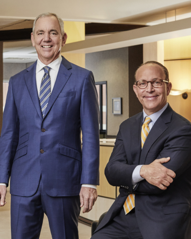 Cintas Corporation CEO and Chairman Scott D. Farmer (left) will retire as CEO on May 31, 2021 after 18 years in the role and 40 years at the company. He will be succeeded as CEO by Todd M. Schneider (right), the company's current Executive Vice President and Chief Operating Officer, on June 1, 2021. Farmer will remain on as the Executive Chairman of the Board, while Schneider will join the Board as a new Member at that time. (Photo Credit: Courtesy of Cintas Corporation)