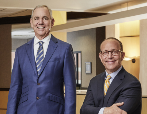 Cintas Corporation CEO and Chairman Scott D. Farmer (left) will retire as CEO on May 31, 2021 after 18 years in the role and 40 years with the company. He will be succeeded as CEO by Todd M. Schneider (right), the company's current Executive Vice President and Chief Operating Officer, on June 1, 2021. Farmer will remain on as the Executive Chairman of the Board, while Schneider will join the Board as a new Member at that time. (Photo Credit: Courtesy of Cintas Corporation)