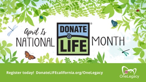 April is National Donate Life Month (Graphic: Business Wire)