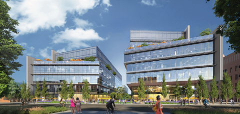 Rendering of BioMed Realty's planned Emeryville Center of Innovation (Graphic: Business Wire)