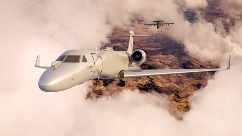 Teams from BAE Systems and the U.S. Air Force conducted tests of SABER on 11 flights of an EC-130H from Davis Monthan Air Force Base in Arizona, paving the way for a critical software upgrade to the EC-37B Compass Call. Image credit: BAE Systems