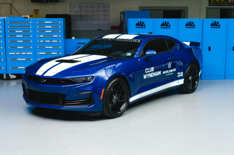 Wyndham Destinations again partners with NASCAR legend Richard Petty's custom garage to offer owners and guests the chance to win a one-of-a-kind Camaro designed and signed by Petty. (Photo: Business Wire)