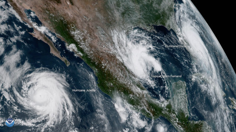 L3Harris is the industry-leading provider of weather sensors flown by U.S. and international customers, such as NOAA's Advanced Baseline Imager for the GOES-R satellite series. Image credit: NOAA