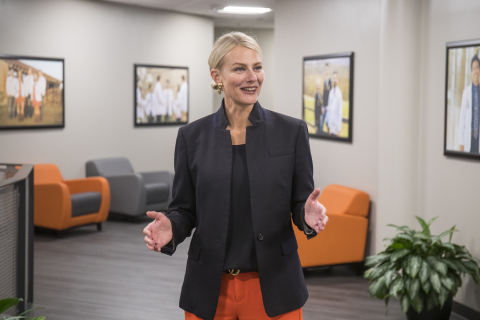 Dr. Shrum's selection makes history as the first woman to lead Oklahoma State University. (Photo: Business Wire)