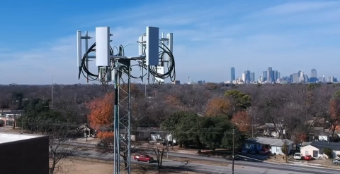 Alpha Wireless AW3170 panel antennas deployed in a private school district network near the Dallas-Fort Worth metro area. (Photo: Business Wire)