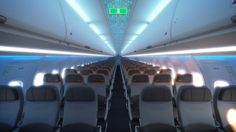 JetBlue will introduce the Airbus A321 Long Range single-aisle aircraft with the Airspace by Airbus interior to its fleet for the airline's highly anticipated transatlantic service. (Photo: Business Wire)